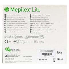 MEPILEX Lite Schaumverband 10x10 cm steril 5 Stück - Rückseite