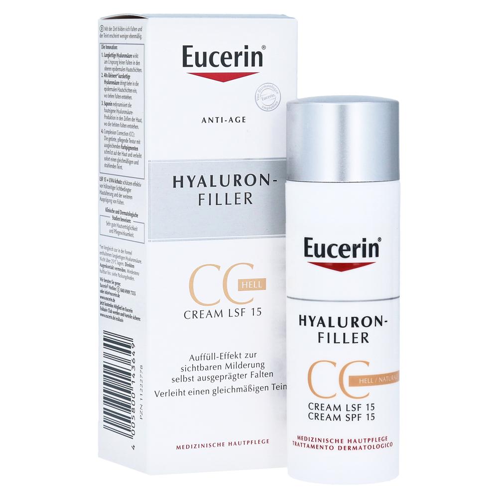 eucerin anti age hyaluron filler cc cream hell 50 milliliter online bestellen medpex. Black Bedroom Furniture Sets. Home Design Ideas