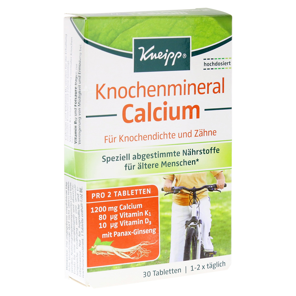 kneipp knochenmineral calcium tabletten 30 st ck online. Black Bedroom Furniture Sets. Home Design Ideas