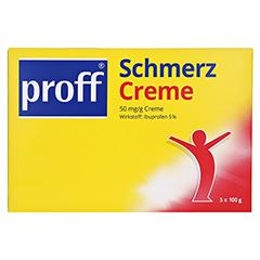 proff® Schmerzcreme 50mg/g 5x100 Gramm - Vorderseite