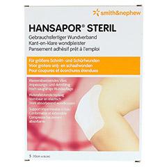 HANSAPOR steril Wundverband 6x10 cm 5 Stück - Vorderseite