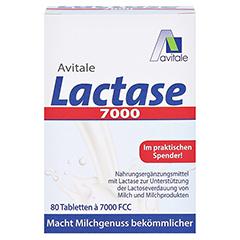 LACTASE 7.000 FCC Tabletten im Spender 80 Stück - Vorderseite