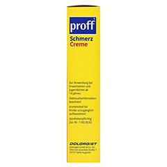 proff® Schmerzcreme 50mg/g 5x100 Gramm - Linke Seite