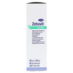 ZETUVIT Plus extrastarke Saugkomp.ster.10x10 cm 10 Stück - Linke Seite