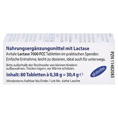 LACTASE 7.000 FCC Tabletten im Spender 80 Stück - Linke Seite