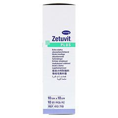 ZETUVIT Plus extrastarke Saugkomp.ster.10x10 cm 10 Stück - Rechte Seite