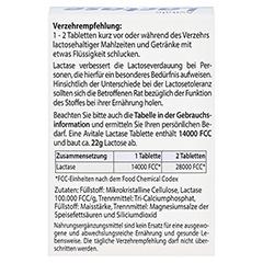 LACTASE 14.000 FCC Tabletten im Spender 80 Stück - Rückseite