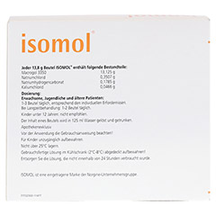 ISOMOL Plv.z.Herst.einer Lösung zum Einnehmen 20 Stück - Rückseite