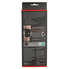 THERMOSKIN Wärmebandage Knie verstellbar L/XL 1 Stück - Rückseite