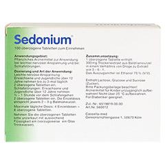 Sedonium 100 Stück - Rückseite