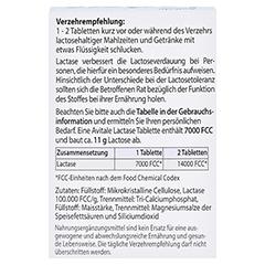LACTASE 7.000 FCC Tabletten im Spender 80 Stück - Rückseite