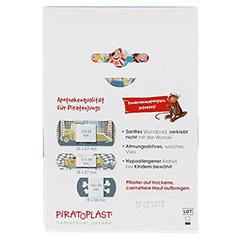 PIRATOPLAST Jungen Pflasterstrips 3 Größen 16 Stück - Rückseite