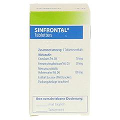SINFRONTAL Tabletten 100 Stück N1 - Rückseite