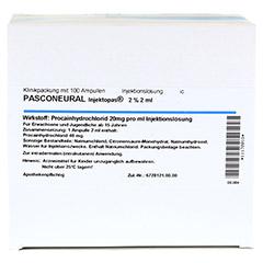 PASCONEURAL Injektopas 2% 2 ml Inj.-Lösung Amp. 100 Stück - Oberseite