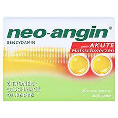 Neo-Angin Benzydamin akute Halsschmerzen Zitrone 20 Stück N1 - Vorderseite