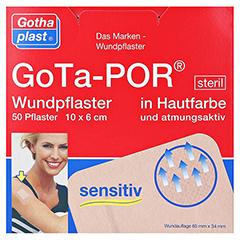 GOTA-POR Wundpflaster steril 60x100 mm hautfarben 50 Stück - Vorderseite