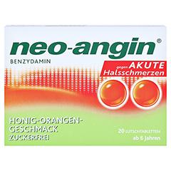Neo-Angin Benzydamin akute Halsschmerzen Honig-Orange 20 Stück N1 - Vorderseite