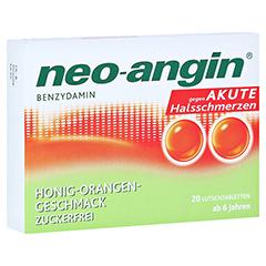 Neo-Angin Benzydamin akute Halsschmerzen Honig-Orange 20 Stück N1