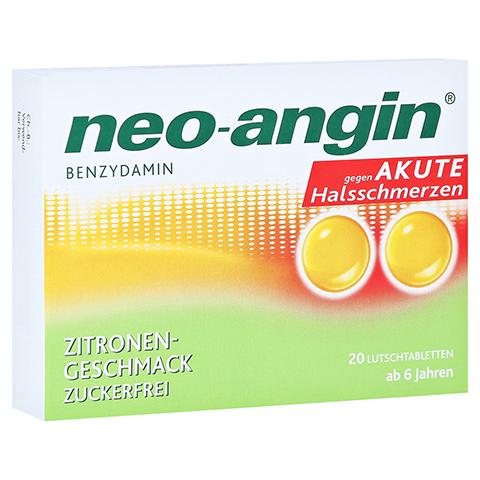 Neo-Angin Benzydamin akute Halsschmerzen Zitrone 20 Stück N1