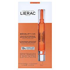 LIERAC Mesolift C15 Serum Anti-Müdigkeit 2x15 Milliliter - Vorderseite