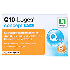 Q10-LOGES concept 100 mg Kapseln 60 Stück - Vorderseite