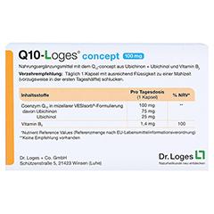 Q10-LOGES concept 100 mg Kapseln 60 Stück - Rückseite