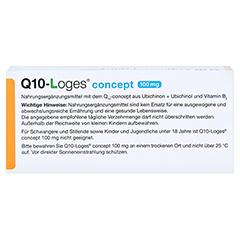 Q10-LOGES concept 100 mg Kapseln 60 Stück - Oberseite