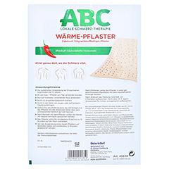 ABC Wärme-Pflaster Capsicum 11mg Hansaplast med 1 Stück - Rückseite