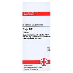 THUJA D 2 Tabletten 80 Stück N1 - Vorderseite