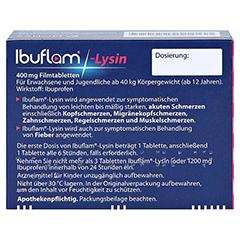 Ibuflam-Lysin 400mg 18 Stück - Rückseite
