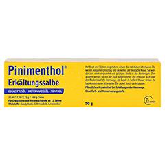 Pinimenthol Erkältungssalbe 50 Gramm N2 - Rückseite