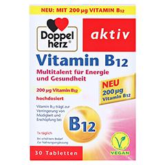 DOPPELHERZ Vitamin B12 Tabletten 30 Stück - Vorderseite
