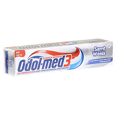 ODOL MED 3 Samtweiß Zahnpasta 100 Milliliter