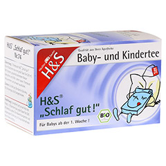 H&S Bio Schlaf gut Baby- und Kindertee Filterbeut. 20 Stück