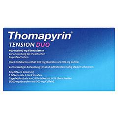 Thomapyrin TENSION DUO 400mg/100mg 12 Stück - Rückseite