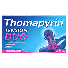 Thomapyrin TENSION DUO 400mg/100mg 12 Stück - Vorderseite