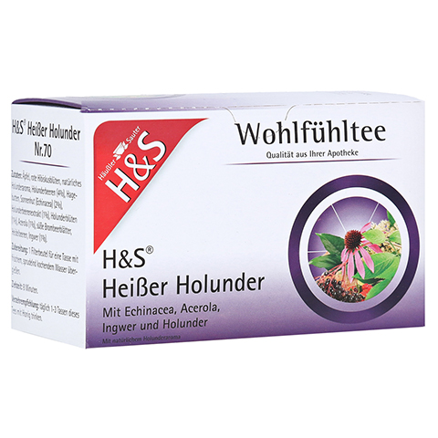 H&S heißer Holunder Vitaltee Filterbeutel 20 Stück