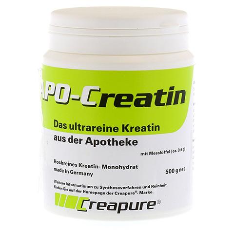 APO CREATIN mit Messlöffel ca.0,6 g Pulver 500 Gramm