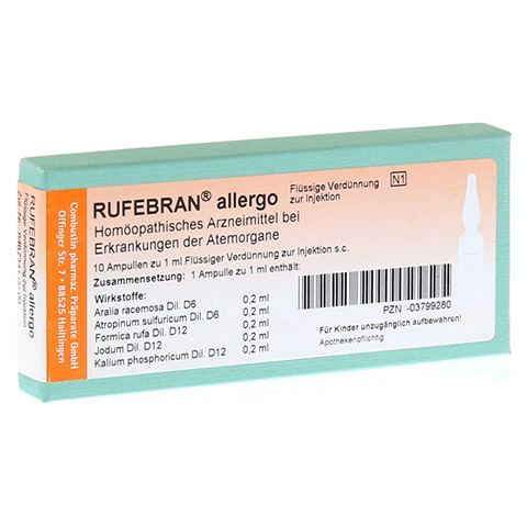 RUFEBRAN allergo Ampullen 10 Stück N1