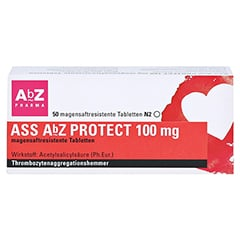 ASS AbZ PROTECT 100mg 50 Stück N2 - Vorderseite
