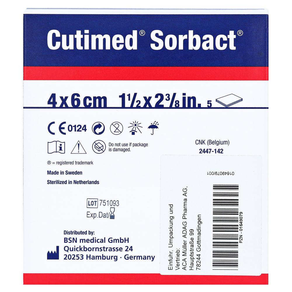CUTIMED Sorbact Kompressen 4x6 cm 5 Stück online bestellen