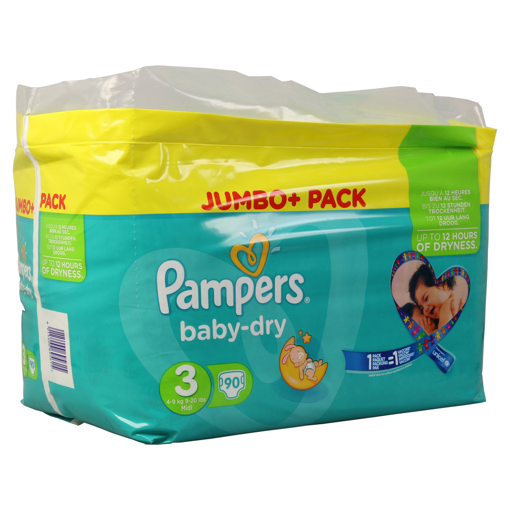 pampers baby dry gr 3 midi 4 9kg jumbo plus pack 90 st ck online bestellen medpex versandapotheke. Black Bedroom Furniture Sets. Home Design Ideas