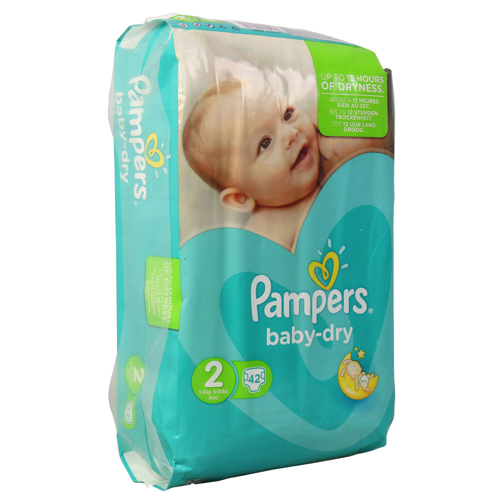 pampers baby dry gr 2 mini 3 6kg sparpack 42 st ck online. Black Bedroom Furniture Sets. Home Design Ideas