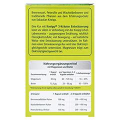 Kneipp 3-Kräuter Entwässerung Kapseln 60 Stück - Rückseite