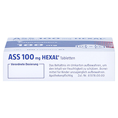 ASS 100mg HEXAL 100 Stück N3 - Unterseite