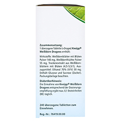 Kneipp Weißdorn Dragees 240 Stück - Linke Seite