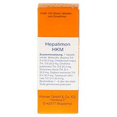 HEPATIMON HKM Tabletten 100 Stück N1 - Vorderseite