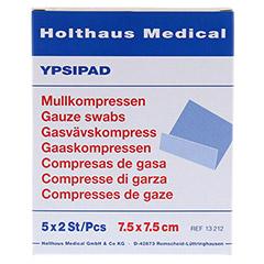 MULLKOMPRESSEN Ypsipad 7,5x7,5 cm steril 8fach 5x2 Stück - Vorderseite