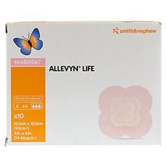 ALLEVYN Life 10,3x10,3 cm Silikonschaumverband 10 Stück - Vorderseite