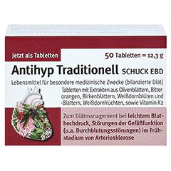 ANTIHYP Traditionell Schuck überzogene Tab. 50 Stück - Vorderseite